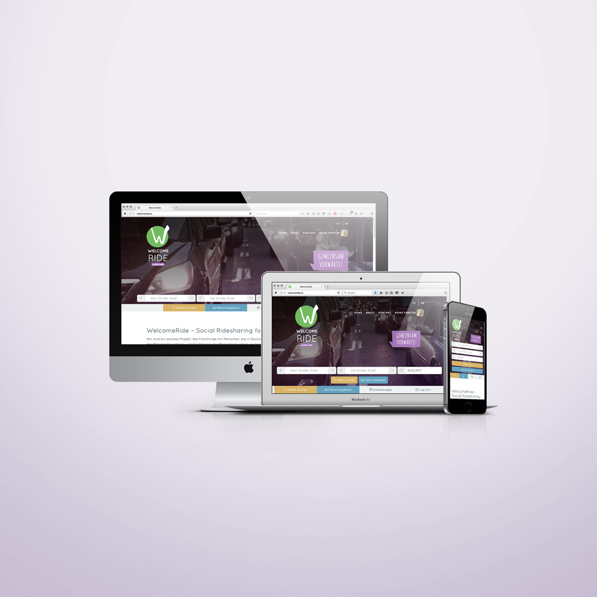 WelcomeRide Responsive Webdesign